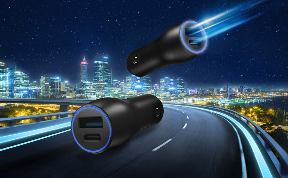 ASUS Dual-USB in-car fast charger