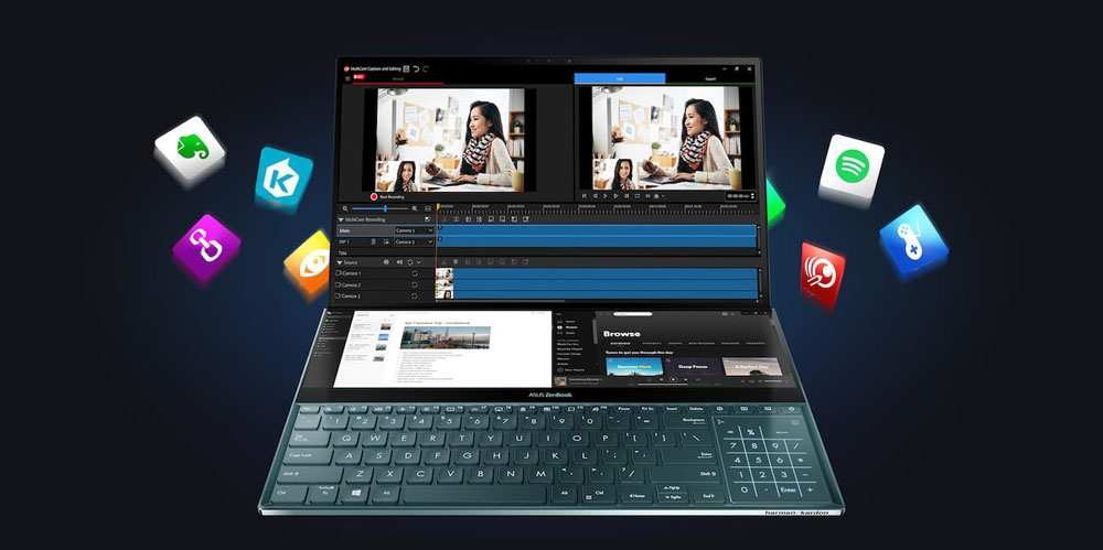 PC Portable ASUS ZenBook Pro Duo UX581GV-H2003T