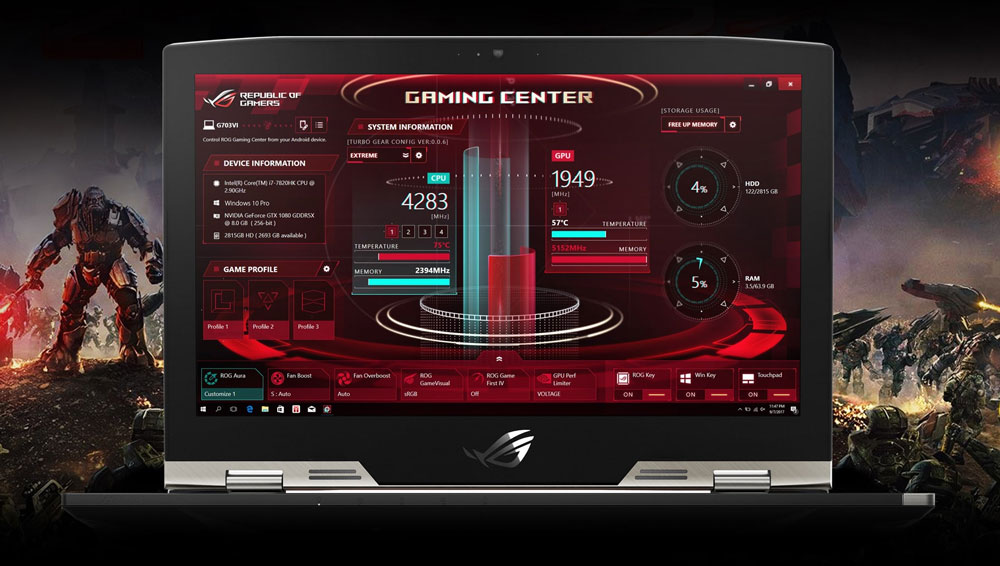 PC Portable ROG CHIMERA-G703VI